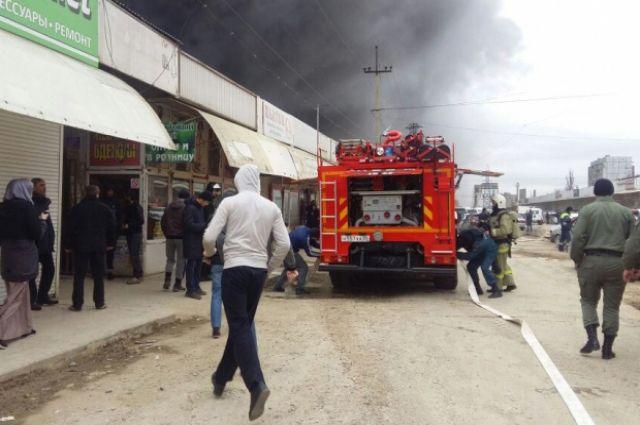 Пожар нарынке расценили как умышленное разрушение чужого имущества