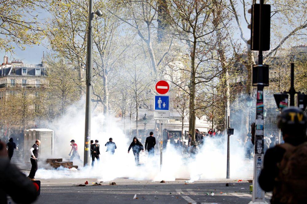 По сообщениям французских СМИ, в демонстрации приняли участие более 500 человек.