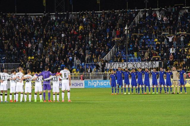 Матч «Ростов» - «Краснодар» начался с минуты молчания.