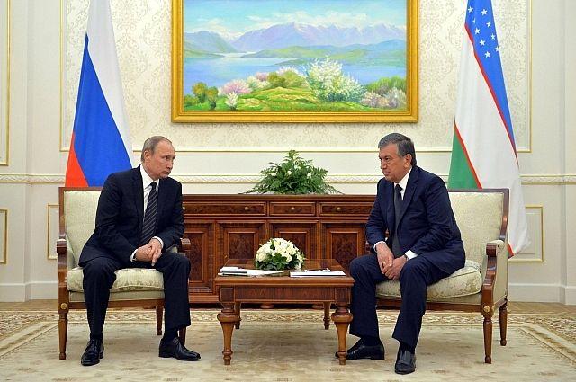 Владимир Путин и Шавкат Мирзиеев.