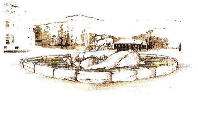 Эскиз фонтана «Лоси».