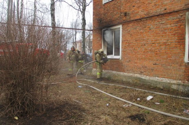 ВТульской области загорелась квартира: умер мужчина