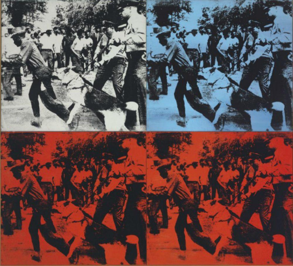 Картина «Расовые беспорядки» 1964 года была продана на аукционе Christie's за 62,8 млн долларов.