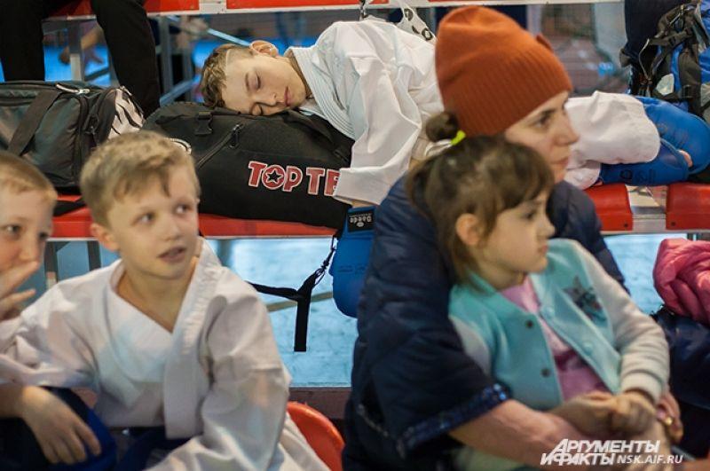 Соревнования по каратэ сильно вымотали ребят