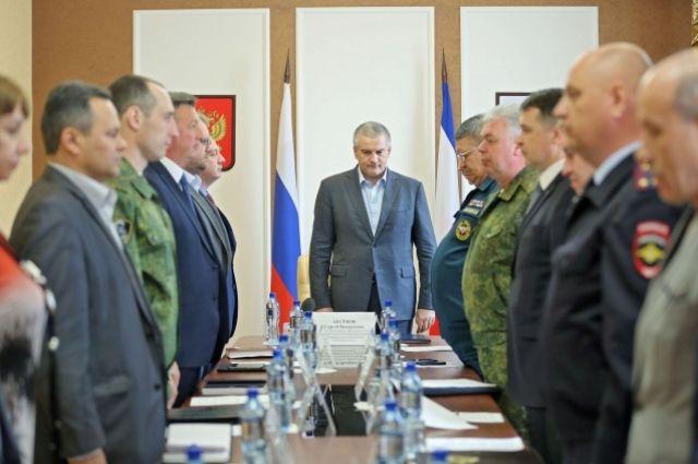 Заседание антитеррористической комиссии в Республике Крым.