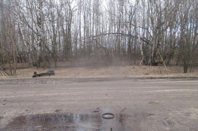 ВТульской области перевернулась Лада Granta: шофёр вреанимации