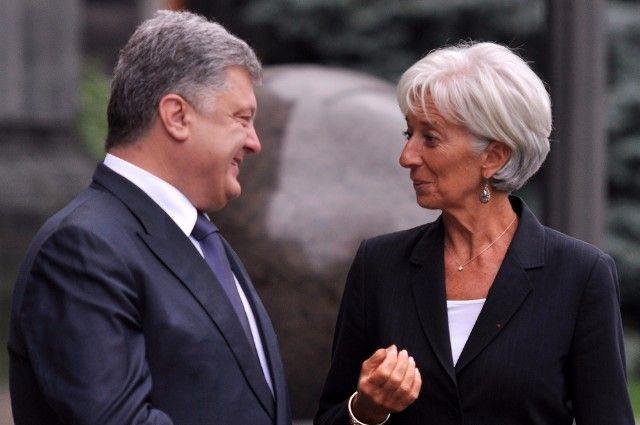 Петр Порошенко и Генеральный директор МВФ Кристин Лагард.