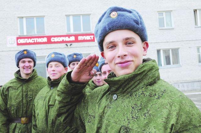 Большая часть призывников будут служить в сухопутных войсках.