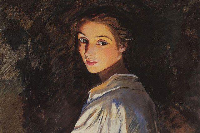 «Девушка со свечой. Автопортрет». Зинаида Серебрякова