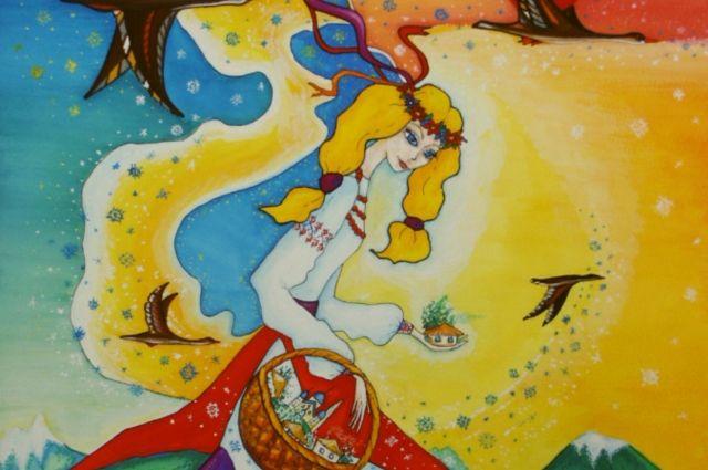 Светлая Берегиня, гуашь, 1997 год