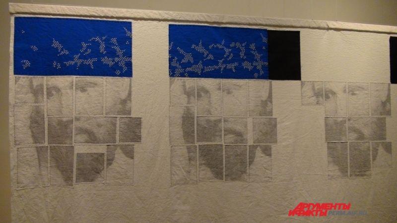 Художники создают свои работы из ткани.
