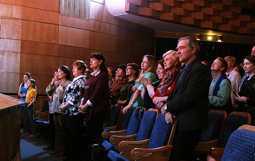 Зрители приветствовали участников стоя