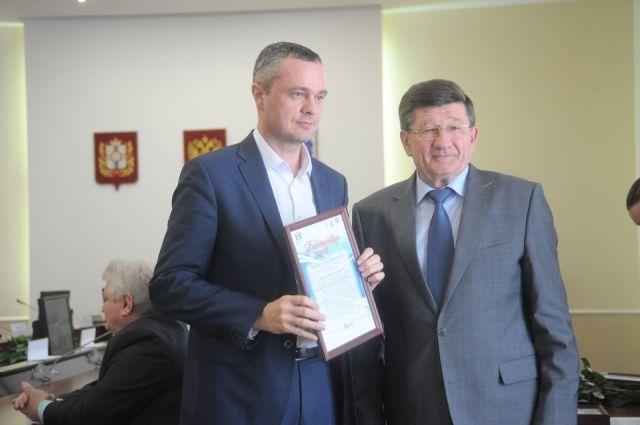 Компанию наградил омский градоначальник.