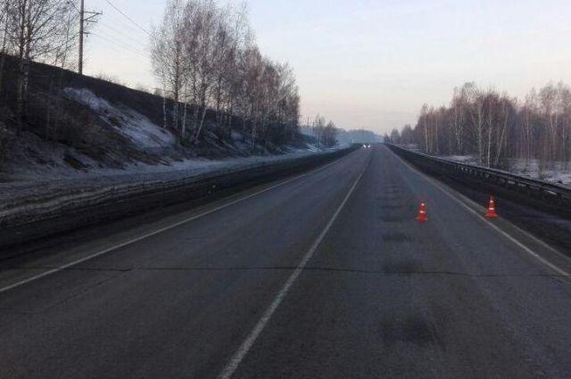 Водитель сбил пешехода возле станции Латыши на трассе Р-255 Сибирь.