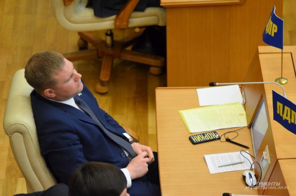 Депутат от фракции ЛДПР Александр Коркин.