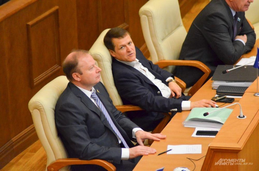 Виктор Шептий и Олег Исаков, «Единая Россия».