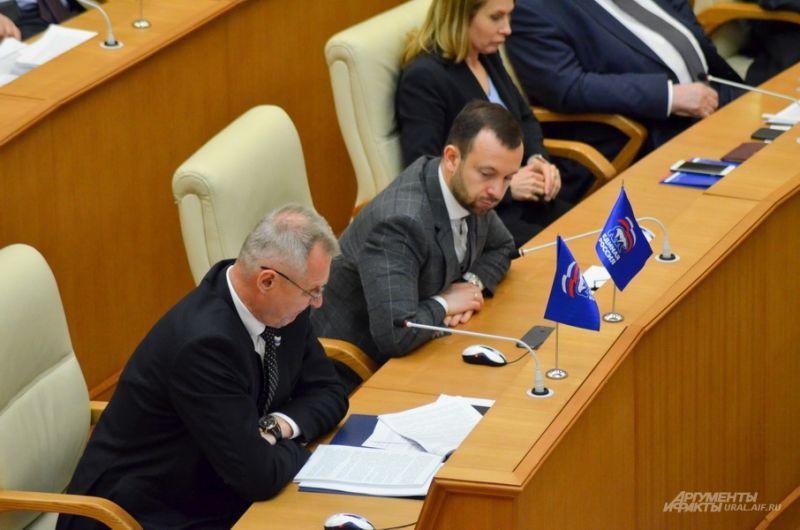 Владимир Власов (слева) и Алексей Коробейников, «Единая Россия».