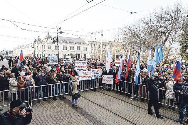 Нижегородцы всем миром вспомнили жертв петербургского теракта.