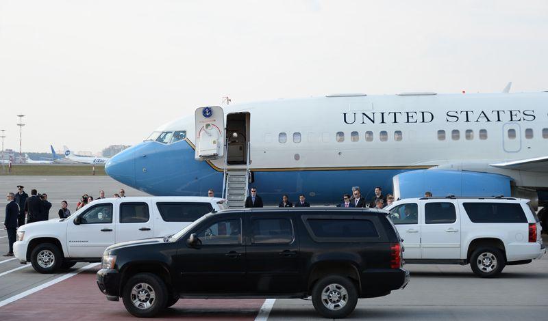 Самолёт Государственного секретаря США Рекса Тиллерсона, прибывшего с рабочим визитом в РФ, в аэропорту «Внуково-2».