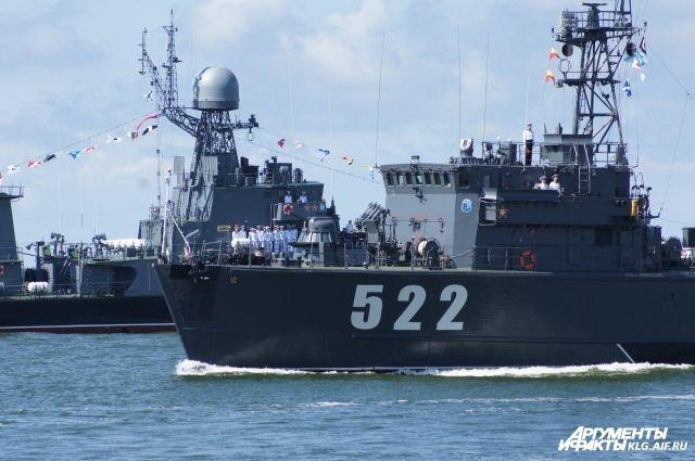 Корабли и морская пехота БФ примут участие в параде Победы в Петербурге.