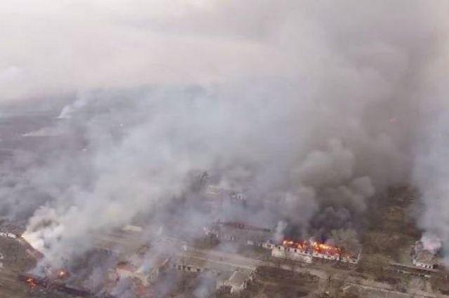 ВБалаклее сгорели боеприпасы намиллиарды долларов