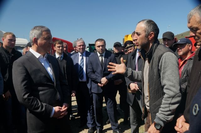 С дальнобойщиками Северной Осетии встретился глава республики.