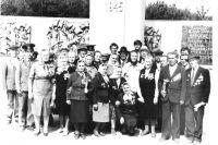 Групповое фото фронтовиков Николаевского района. 1980 год.