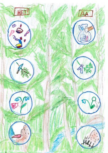 Участник №14 Алина Воронова, 7 лет. «Да и Нет»