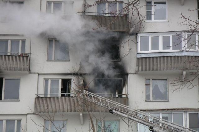 Пострадавших при пожаре нет