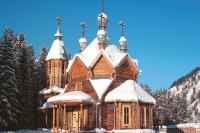 В церкви жители мегаполиса отдыхают от городской суеты.