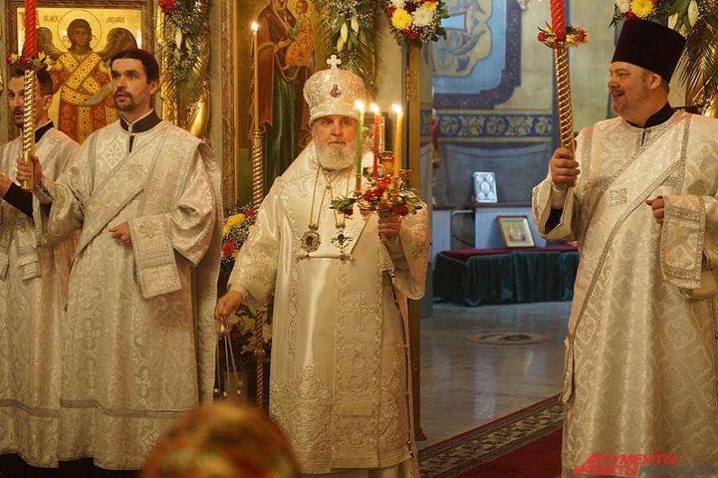 В службе принял участие и митрополит Пермский и Кунгурский Мефодий.