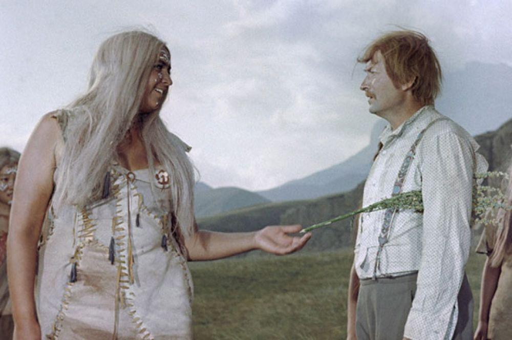 Георгий Вицин. Кадр из фильма «Земля Санникова». 1973 год.