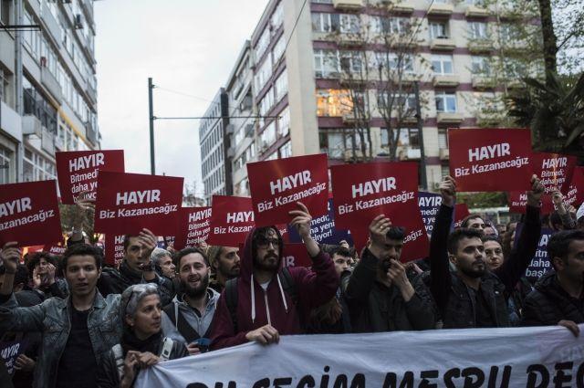 Акция протеста в Турции.