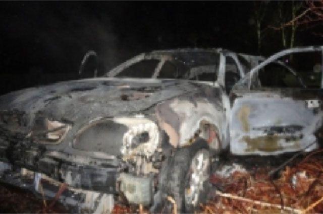 ВОренбурге наТихой сгорела машина