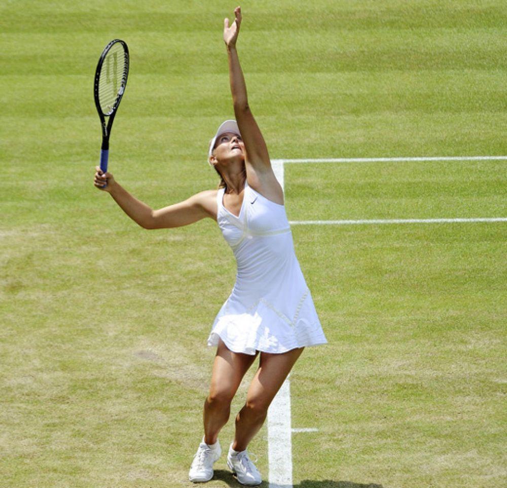 2009 год. Мария на Уимблдонском турнире.