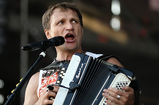 Солист группы «Вопли Видоплясова» Олег Скрипка.