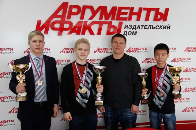 Егор Полетаев, Ян Казанцев, Максим Иванов и Дмитрий Пан.