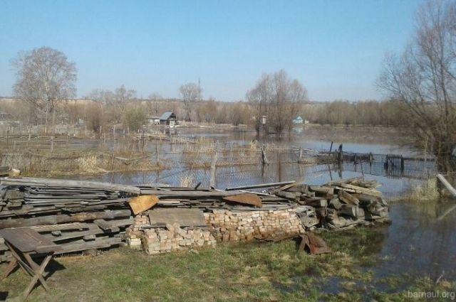 В пригороде Барнаула укрепили дамбу