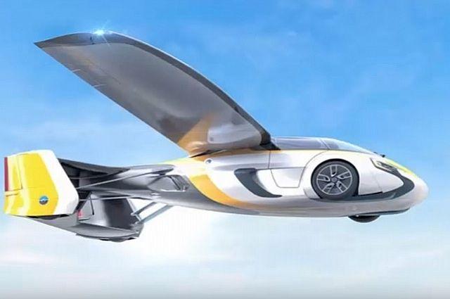 Кадр из презентации летающего автомобиля.