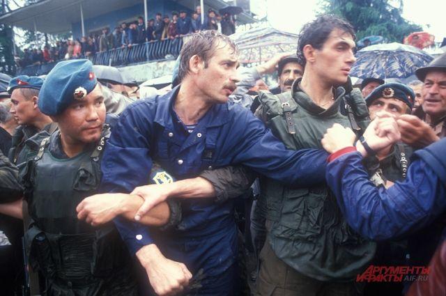 Андрей Рожков (в центре). 1993 г.