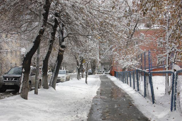 ВКрыму идет снегопад