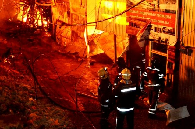 В ГосЧС заявили, что во время пожара никто не пострадал