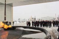 В Салехарде вандалы, осквернившие памятник, попросили прощения у ветеранов.