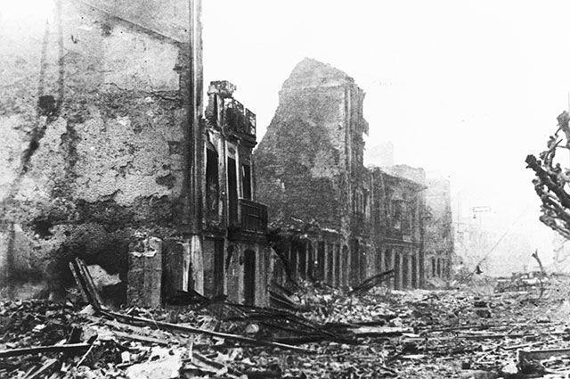 Последствия бомбардировки Герники, 1937 г.