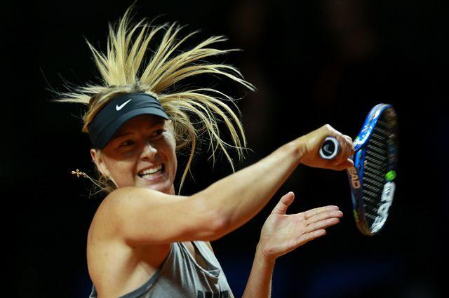 Российская теннисистка Мария Шарапова во время тренировки на стадионе «Порше-Арена».