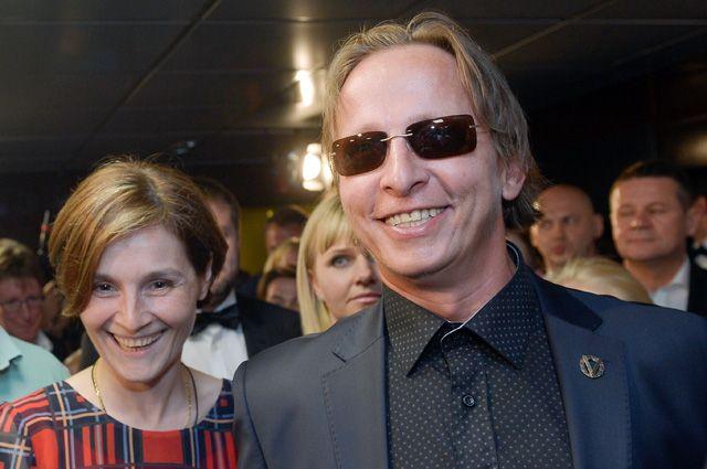Актёр и режиссёр Иван Охлобыстин с супругой Оксаной.