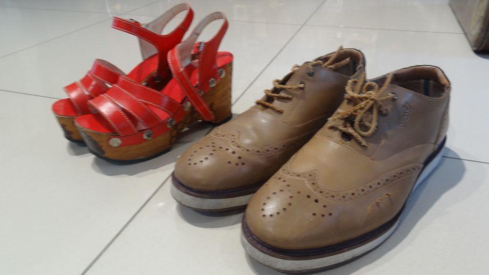 Женская и мужская обувь.