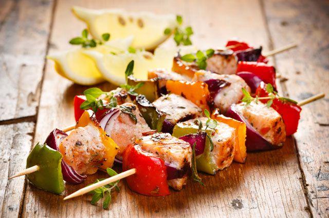 Шашлык из рыбы. Готовим лёгкие блюда на углях