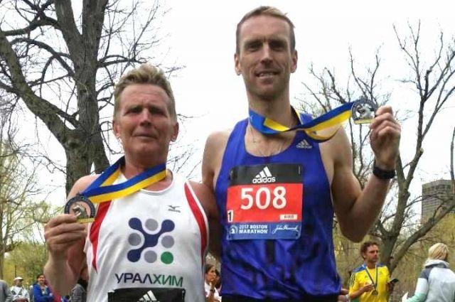 Михаил Шафранов (слева) и Сергей Овсянников - опытные марафонцы.