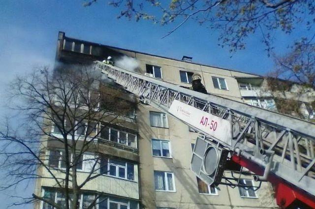 На месте пожара